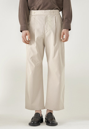 Noun노운 double pocket wide pants (beige)