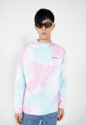 Markgonzales마크곤잘레스 LLUD x M/G TIE DYE LONG SLEEVE BLUE PINK
