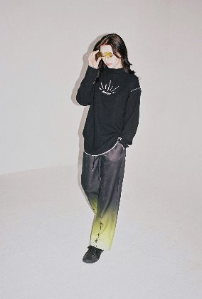 Sserpe쎄르페 Acid Green Rave Gradation Banding Pants