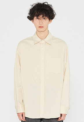 INNER CITY AUDIO이너시티오디오 OVERFIT LONG SHIRTS YELLOW