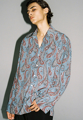 Trip LE Sens트립르센스 PAISLEY PATTERN OVER SHIRTS BLUE