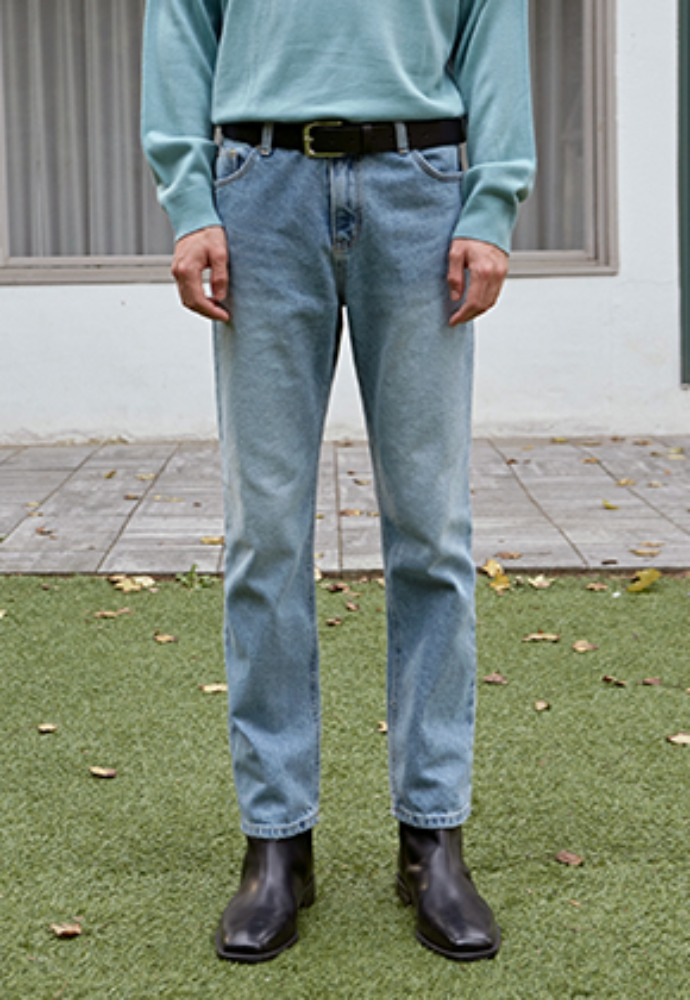 Deans딘스 [DEANS] NATURAL WASH STRAIGHT JEAN_DENIM