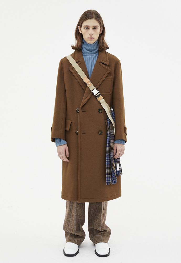 Anderssonbell앤더슨벨 NEW MARTINE DOUBLE BREASTED COAT_BROWN awa219m