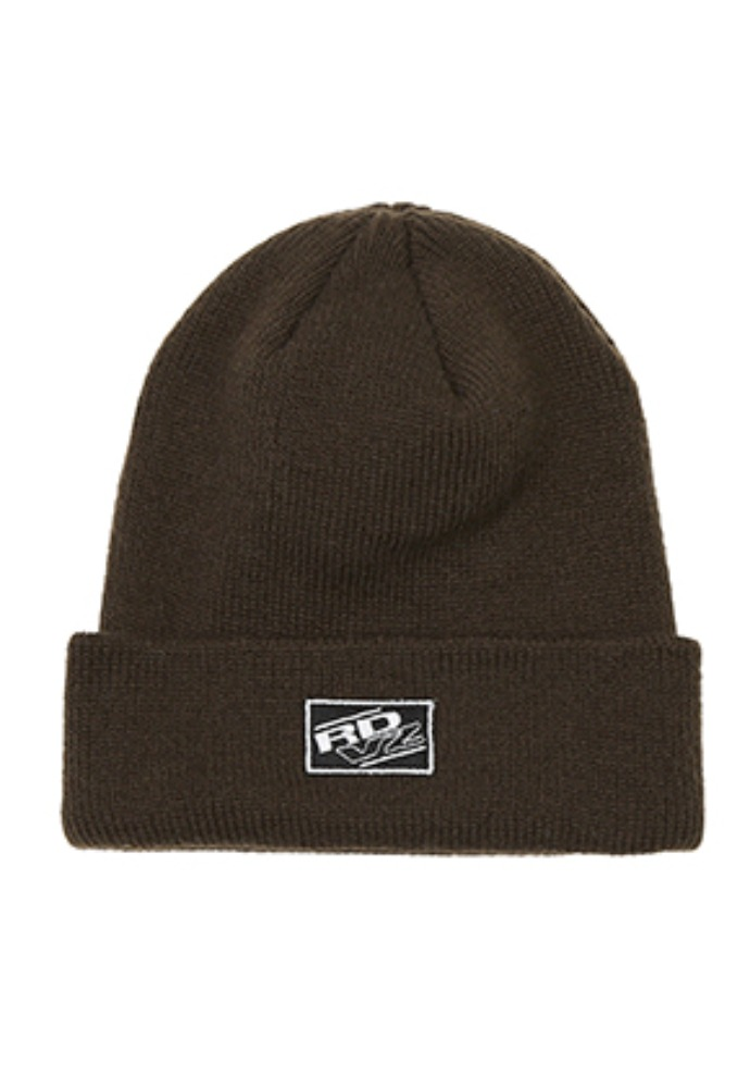 RDVZ RECTANGLE LABEL BEANIE BROWN