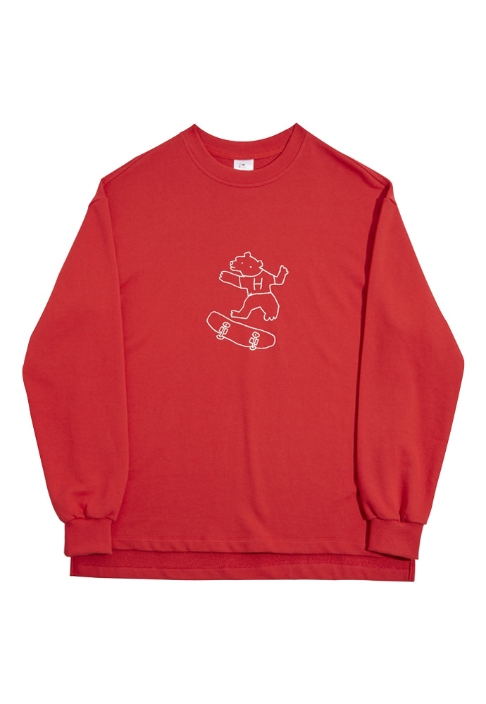 HEAVY Culture헤비컬쳐 BearBear SweatShirts Red