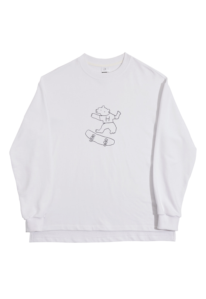 HEAVY Culture헤비컬쳐 BearBear SweatShirts White