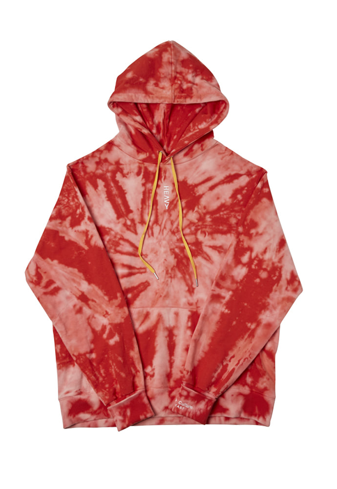 HEAVY Culture헤비컬쳐 Bleach Dyeing Hood Red