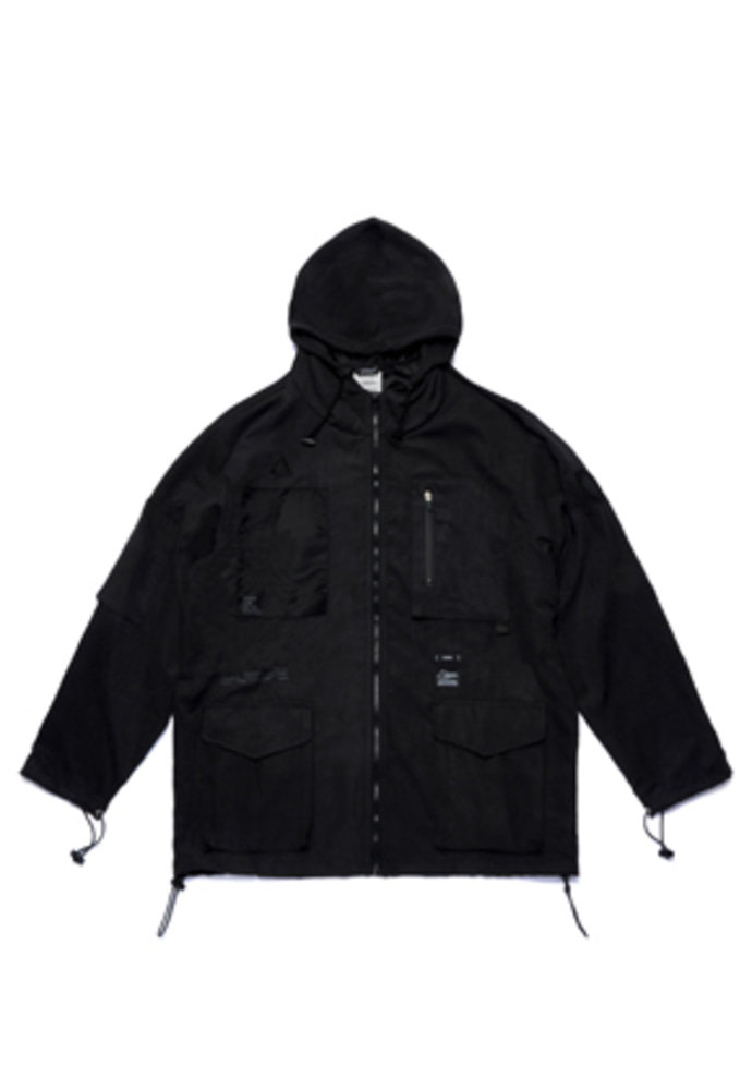 Stigma스티그마 WASHED TECH WINDBREAKER JACKET BLACK