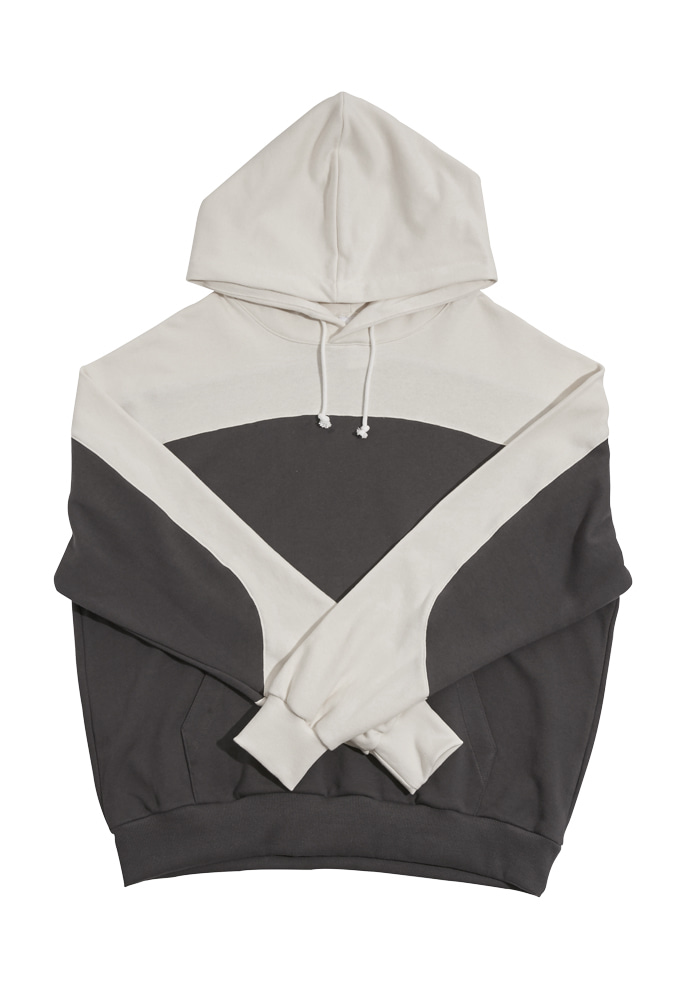 HEAVY Culture헤비컬쳐 BlockHood Charcoal/Ivory