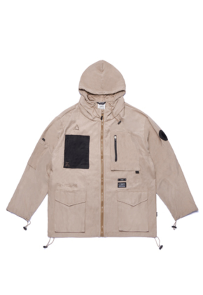 Stigma스티그마 WASHED TECH WINDBREAKER JACKET BEIGE