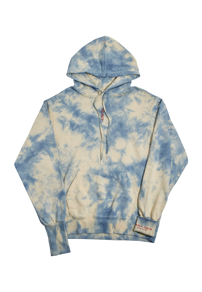 HEAVY Culture헤비컬쳐 Cloud Dyeing Hood Blue