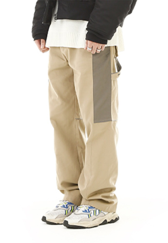 RDVZ BLOCK WORK PANTS BEIGE
