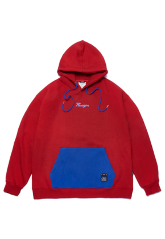 Stigma스티그마 PARAGON OVERSIZED HEAVY SWEAT HOODIE RED