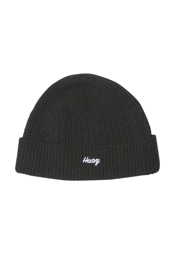 HEAVY Culture헤비컬쳐 Wool Watch Beanie Black