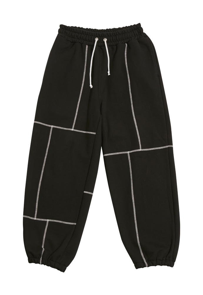 HEAVY Culture헤비컬쳐 Brick Sweatpants Black