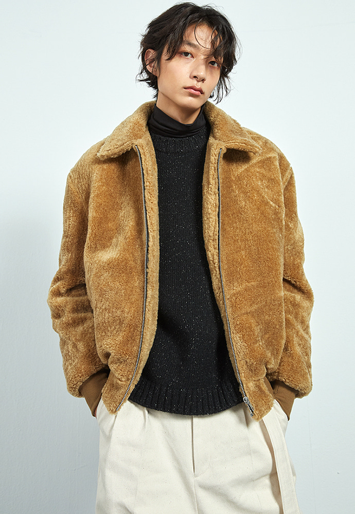 Haleine알렌느 CAMEL shearing jacket(HJ045)