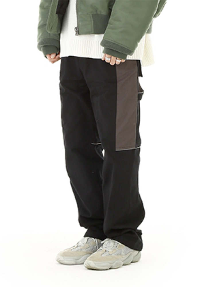 RDVZ BLOCK WORK PANTS BLACK