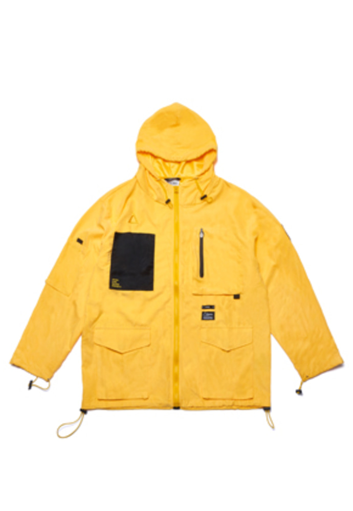 Stigma스티그마 WASHED TECH WINDBREAKER JACKET YELLOW
