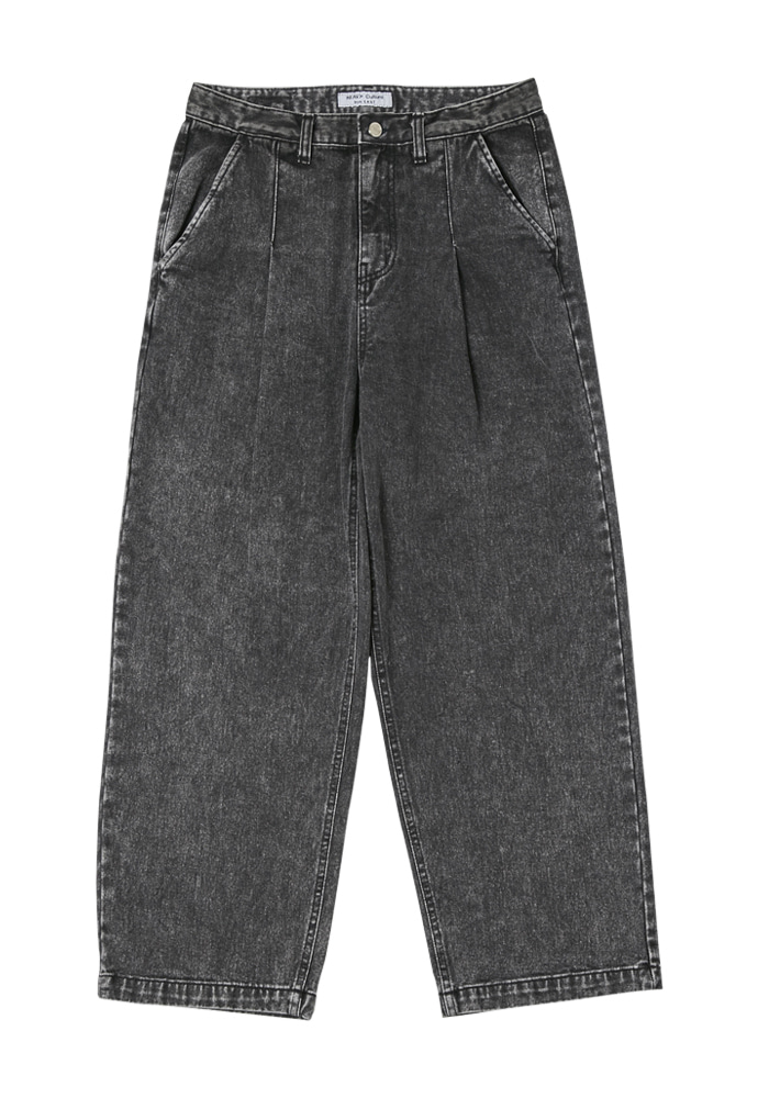 HEAVY Culture헤비컬쳐 Snow Pintuck Denim Pants Black
