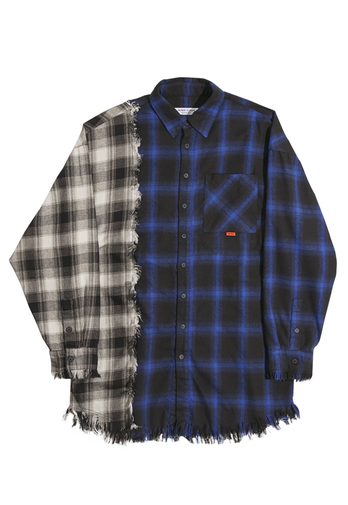 HEAVY Culture헤비컬쳐 Vintage Heavy Check Shirts Navy/Black