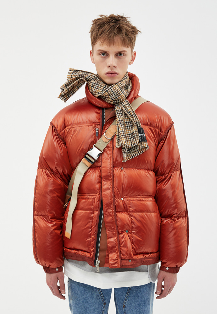 Anderssonbell앤더슨벨 UNISEX INSIDE OUT REVERSIBLE DUCK DOWN awa182u(Brick)