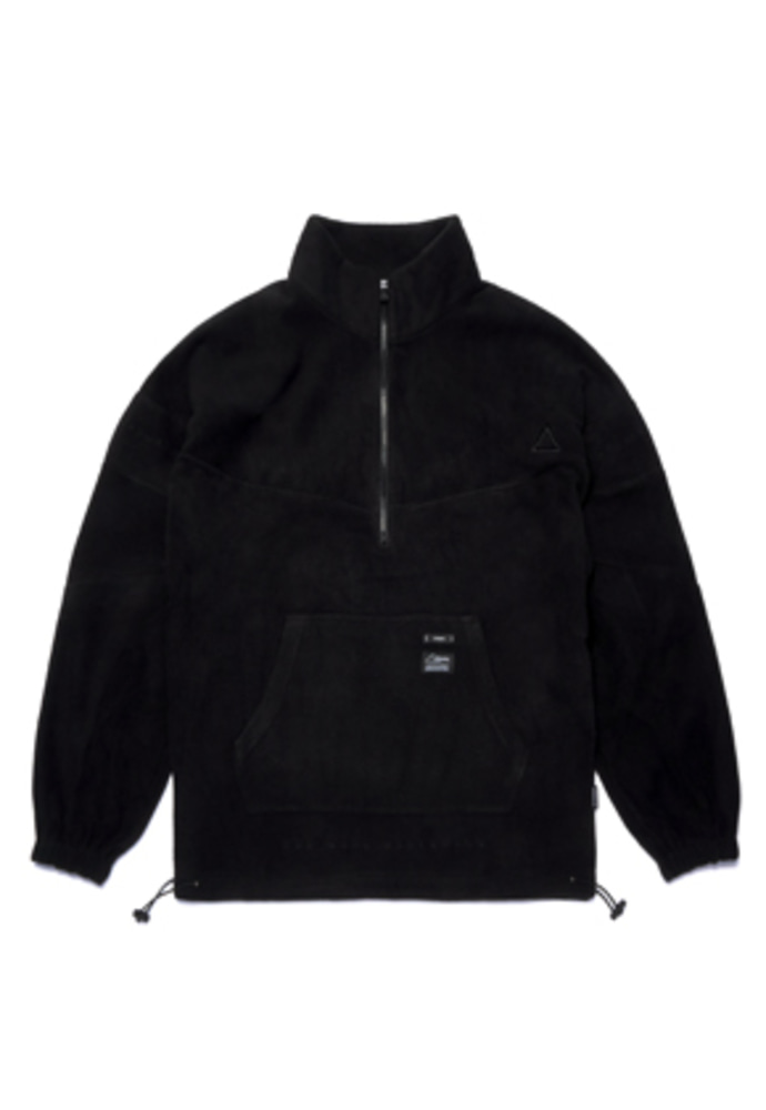 Stigma스티그마 TRIANGLE FLEECE OVERSIZED ANORAK JACKET BLACK