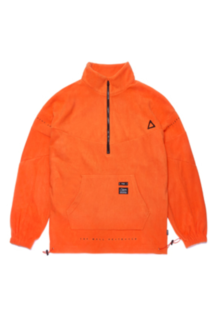 Stigma스티그마 TRIANGLE FLEECE OVERSIZED ANORAK JACKET ORANGE