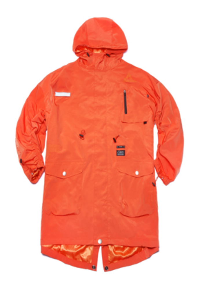 Stigma스티그마 TRIANGLE OVERSIZED FISHTAIL PARKA ORANGE