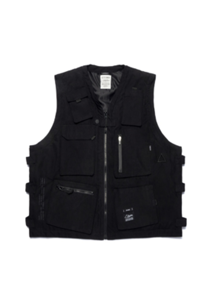 Stigma스티그마 WASHED TECH VEST BLACK