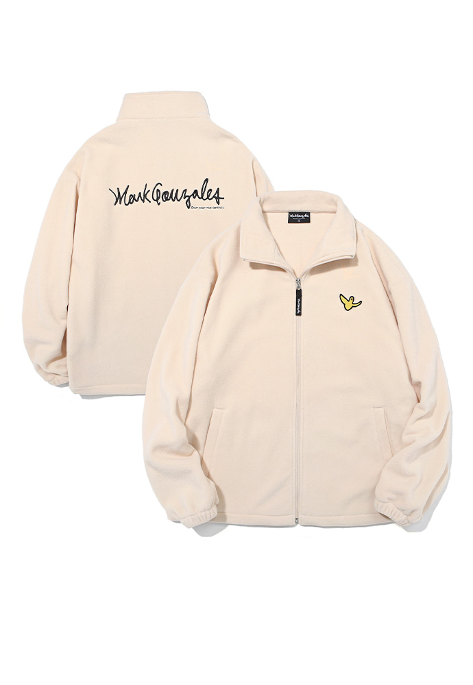 Markgonzales마크곤잘레스 M/G ANGEL FLEECE ZIP UP IVORY
