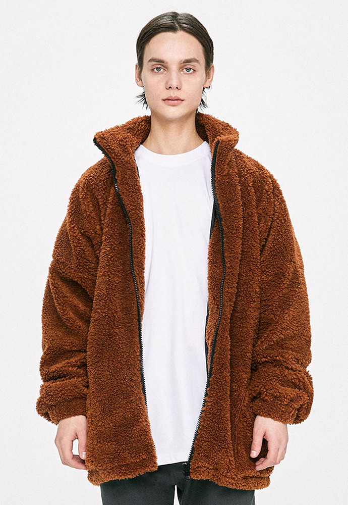 D.prique디프리크 Oversized Shearling Jacket - Brown