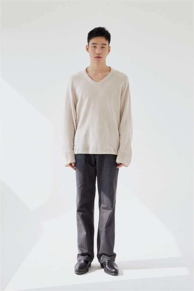 Lorem ipsum로렘입숨 Grey Slub Denim