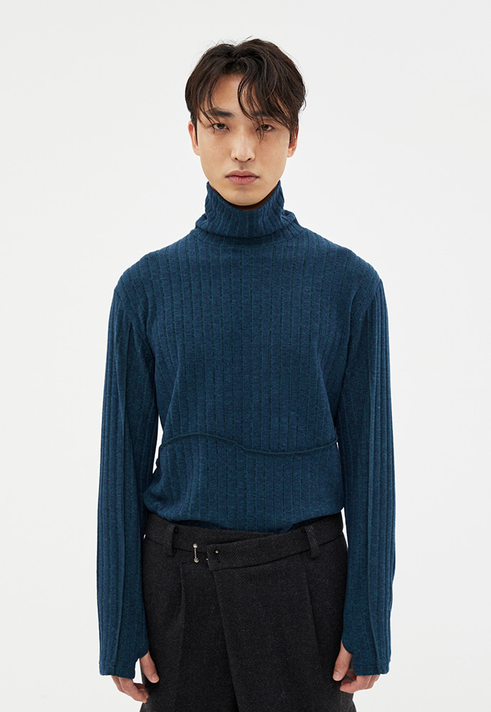 Anderssonbell앤더슨벨 DAN ARM WARMER TURTLE NECK atb418m(BLUE GREEN)