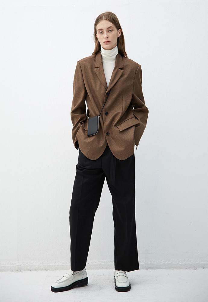 Haleine알렌느 BROWN wool oversized blazer(KJ005) *LIMITED EDITION*