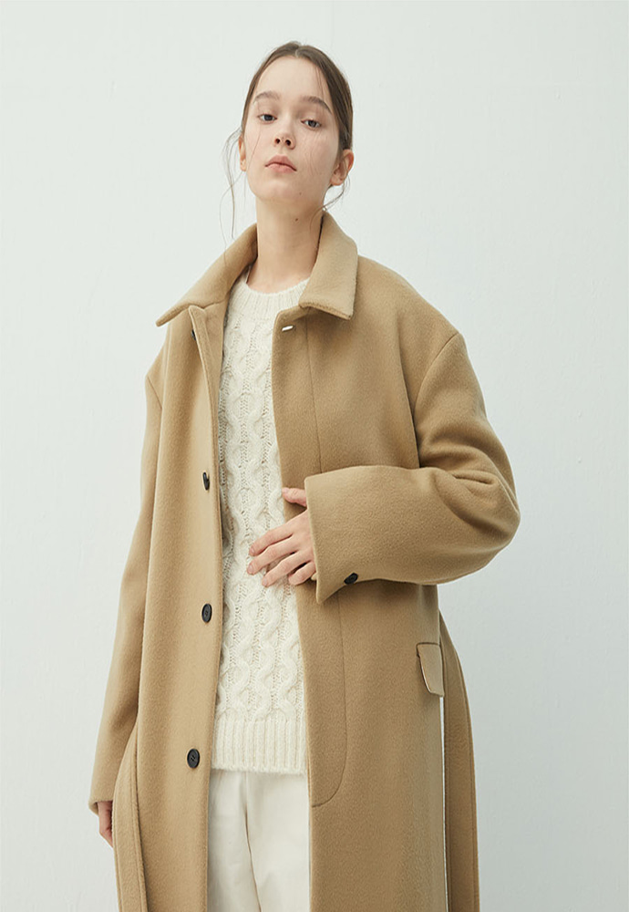 Haleine알렌느 BEIGE wool oversized drop shoulder long maccoat(KJ039)