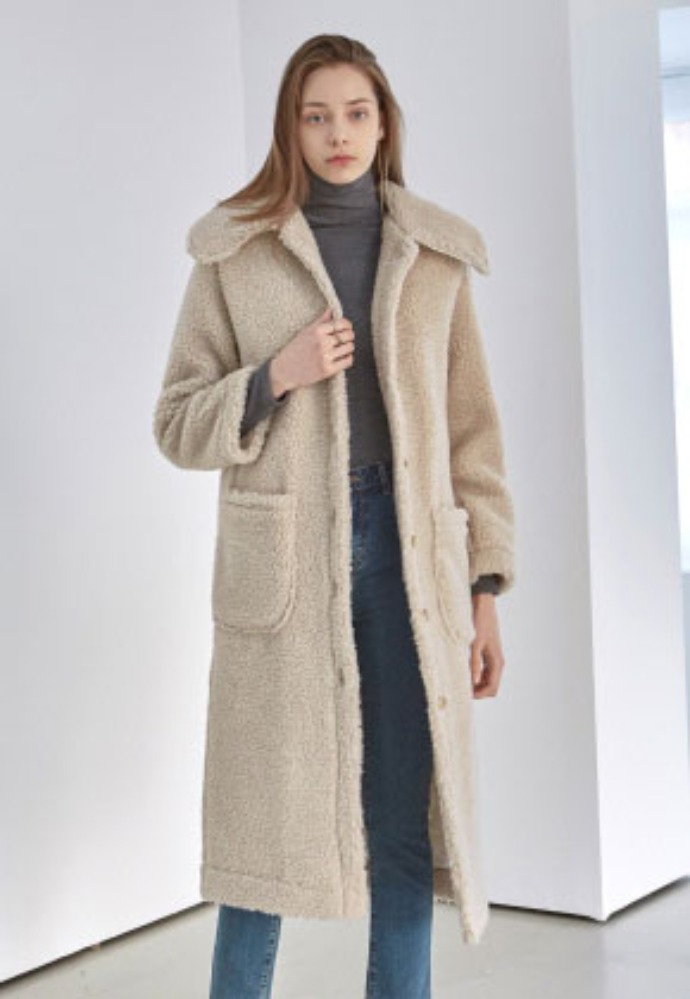 Yan13얀써틴 DUMBLE FLAT LONG COAT_BEIGE