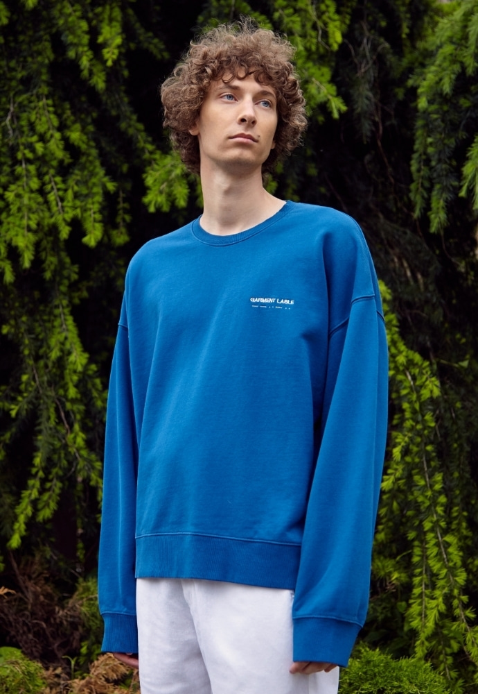 Garment lable가먼트레이블 Relaxed Sweatshirts - Blue