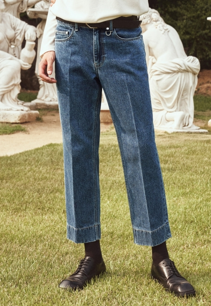 Garment lable가먼트레이블 Garment Worker Stitch Jeans / Tapered (Retro Blue)