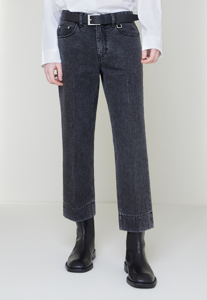 Garment lable가먼트레이블 Garment Worker Stitch Jeans / Tapered (Black Tan)