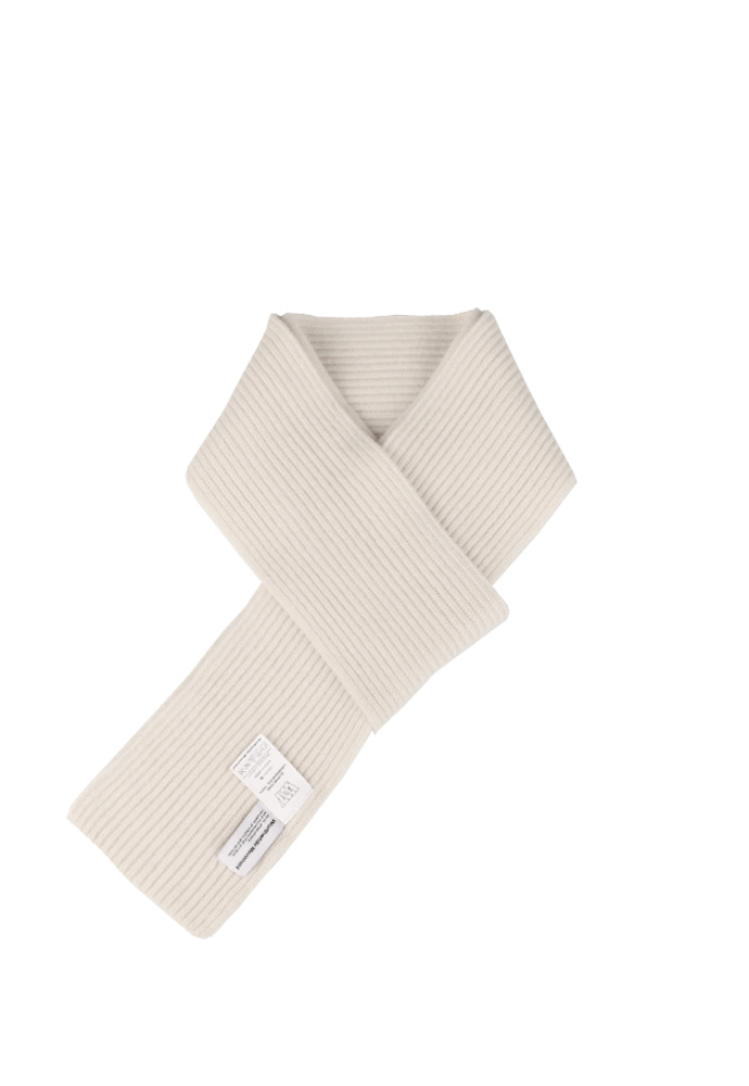 Worthwhile Movement월스와일 무브먼트 KNIT MUFFLER (OFF WHITE)