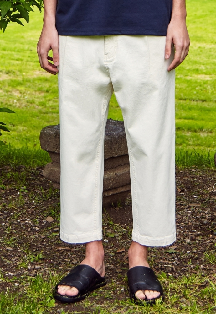 Garment lable가먼트레이블 Natural Wide Pants - Ivory
