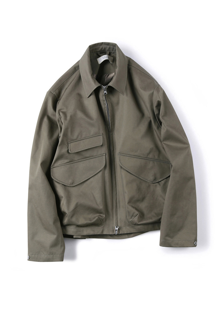 Shirter셔터 GABARDINE COTTON ZIP-UP JACKET KHAKI