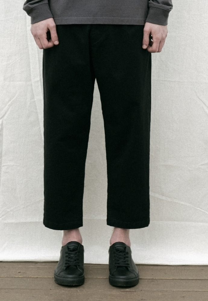 Garment lable가먼트레이블 Natural Wide Pants - Black