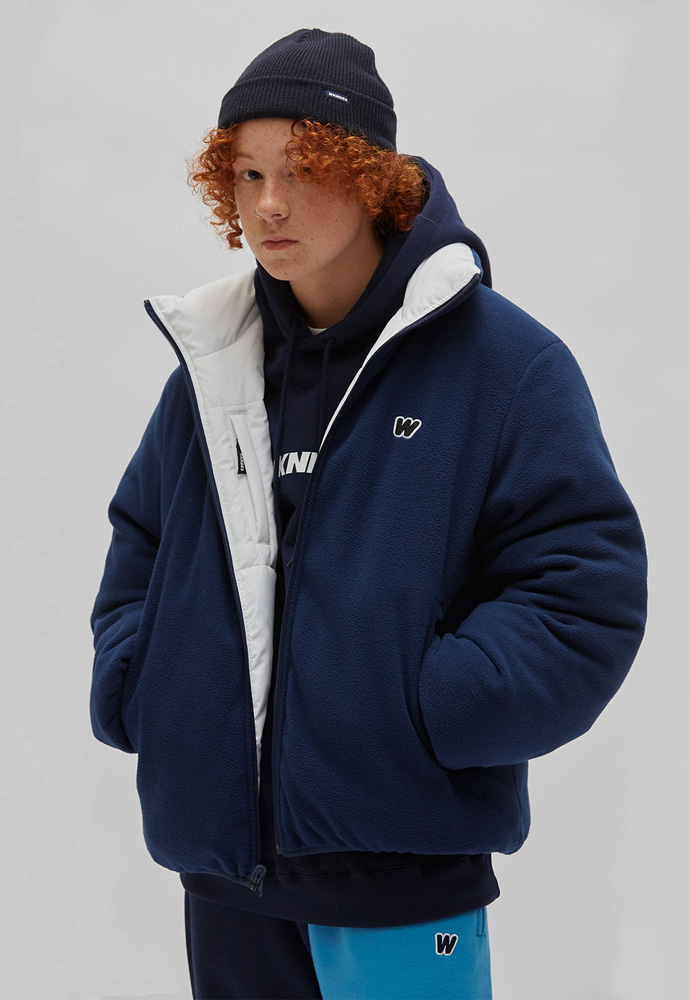 WKNDRS위캔더스 REVERSIBLE PADDED JACKET (NAVY)