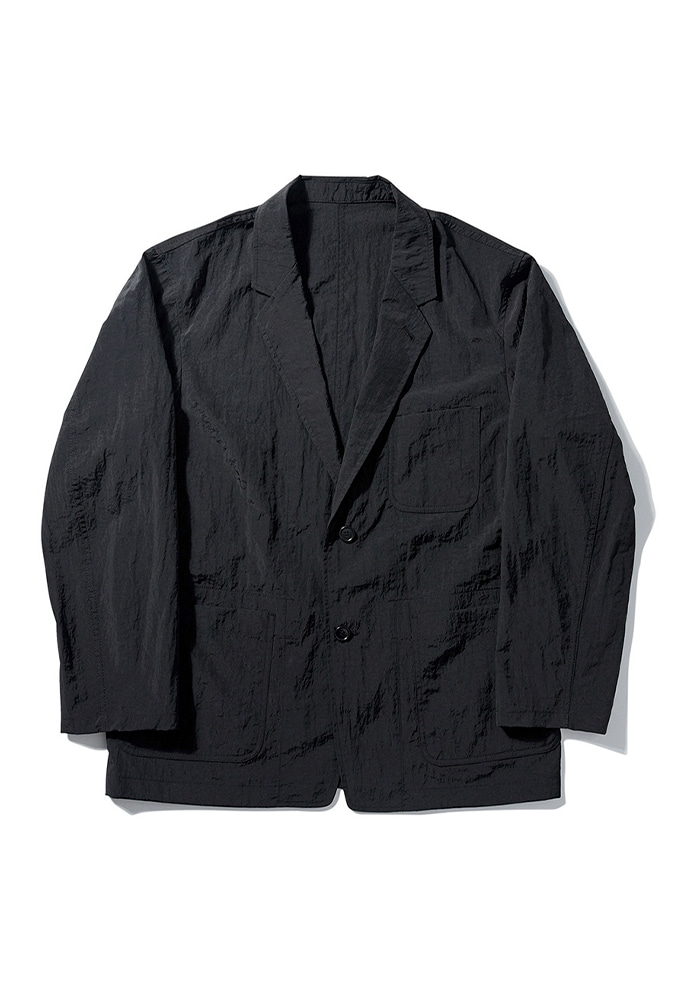NOMANUAL노메뉴얼 NYLON SET-UP JACKET - BLACK