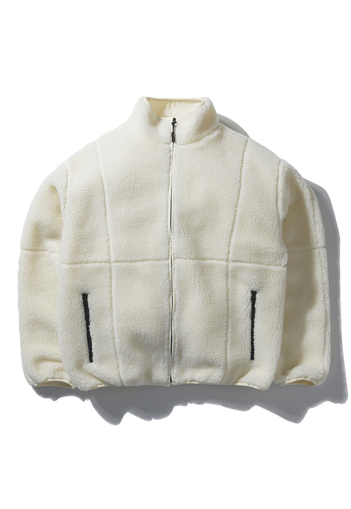 NOMANUAL노메뉴얼 NM BOA FLEECE JACKET - IVORY