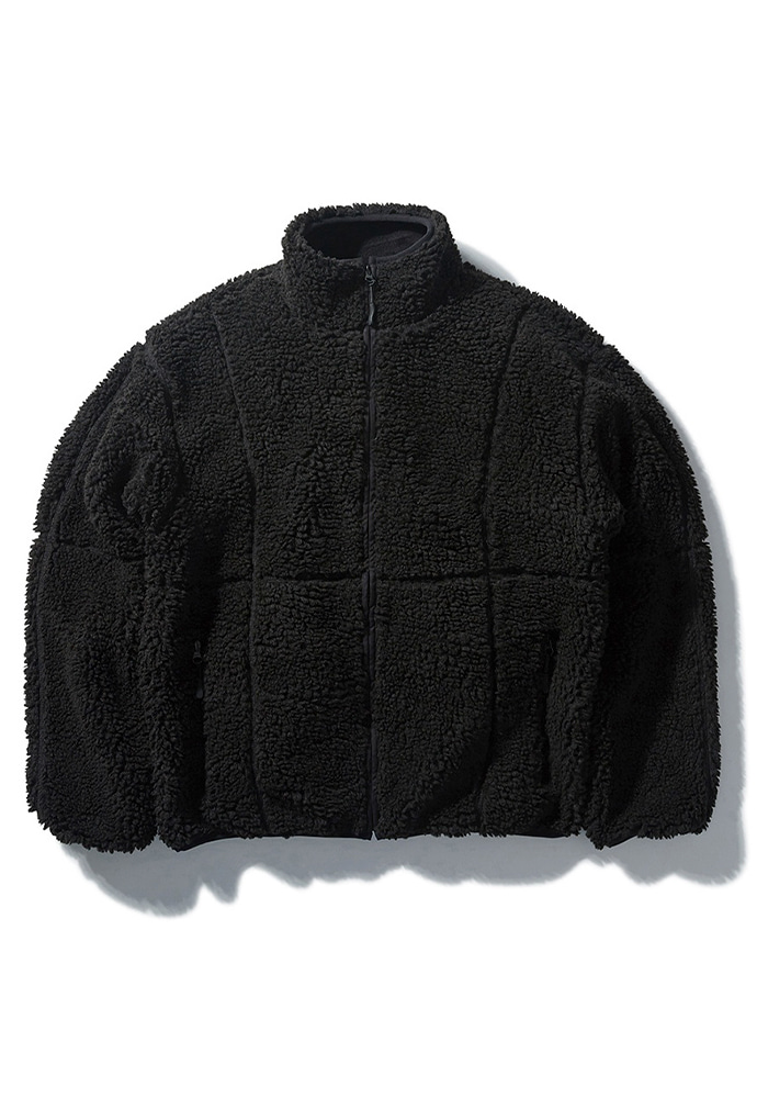 NOMANUAL노메뉴얼 NM BOA FLEECE JACKET - BLACK