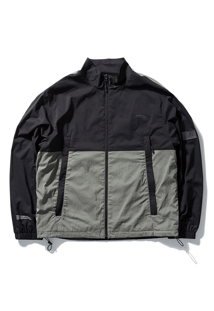 NOMANUAL노메뉴얼 NM PATCH TRAINING JACKET - BLACK