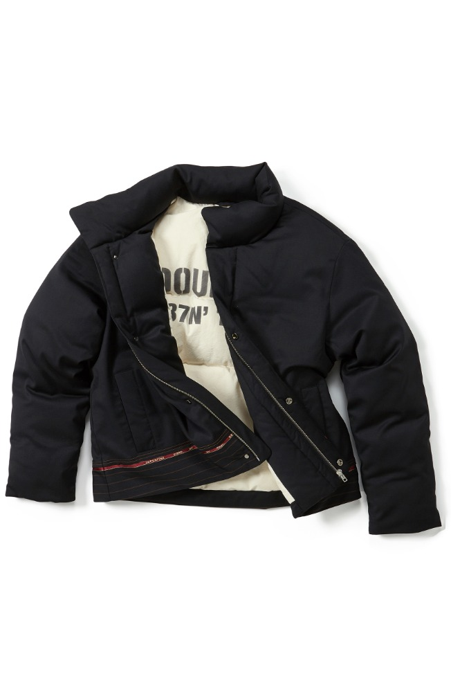 Double:L더블엘 CONTRAST SHORT PUFFER JACKET (HORIZONTAL)