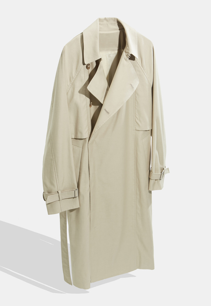 YOUTH유스랩 Belted Trench Coat Light Beige